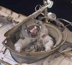 Emerging from Quest during EVA 2. Image credit Collect Space