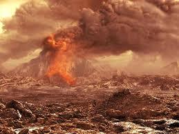 Venus volcano erupting