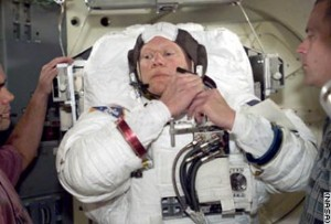 Dave Brown prepares for EVA training