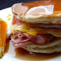 A tasty way to use up leftover pancakes. Image credit All Recipes.