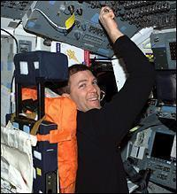 As Mission Commander, Rick Husband sat in the left seat on the Flight Deck.