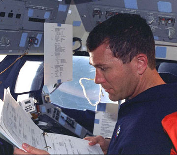 Seem like a lot of checklists? Flying the space shuttle was complicated at the best of times. Image credit University Journal