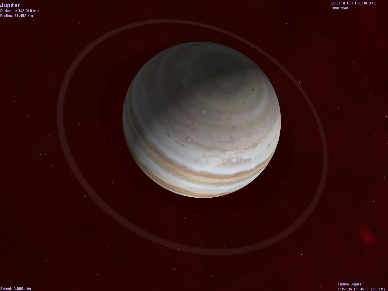 A look at Jupiter's rings. Image credit: Selden's Gallery of Celestia Pictures