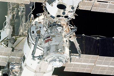 The Pirs airlock. Image credit Wikipedia