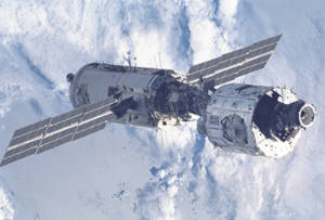 A view of the International Space Station as seen from STS-96. Image credit CSA