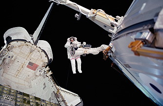 Barry during an EVA.