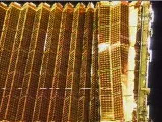 Repeated attempts to retract the P6 solar array wing hit a snag. Image credit Collect Space