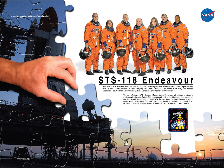 STS-118 Crew Poster. Image credit NASA