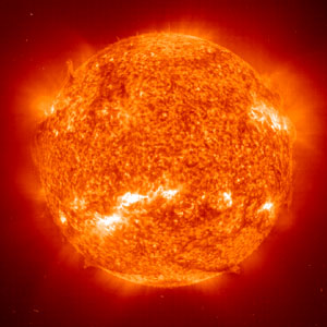 """The sun is usually seen as friendly but is also the source of much """"space weather"""" that can damage electronics. Image credit: HowStuffWorks"""