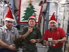 Expedition 16 celebrates the holidays on the International Space Station. Image credit NASA