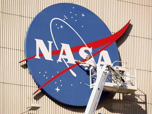 "The NASA ""Meatball"" Logo. Image credit NASA"