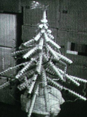 Skylab 4 made a Christmas tree out of refuse.