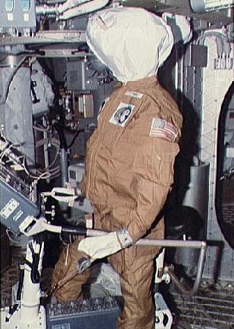 A Skylab Dummy. Image credit Astronautix