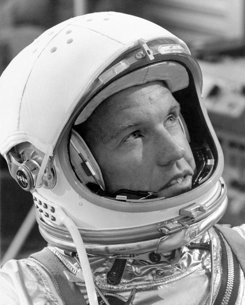 Gordon Cooper prepares for his flight. Image credit NASA