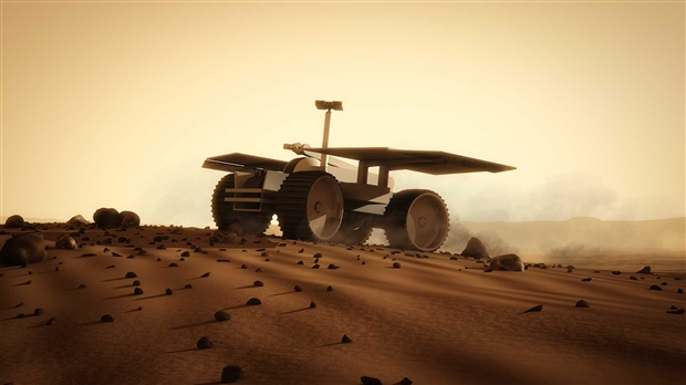 I wasn't going to stress the cool factor, but just look at that. Who wouldn't want a Mars Rover that can tow habitat modules? Image credit Spacehab
