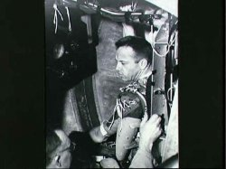 Alan Shepard in training. Image credit Oracle ThinkQuest