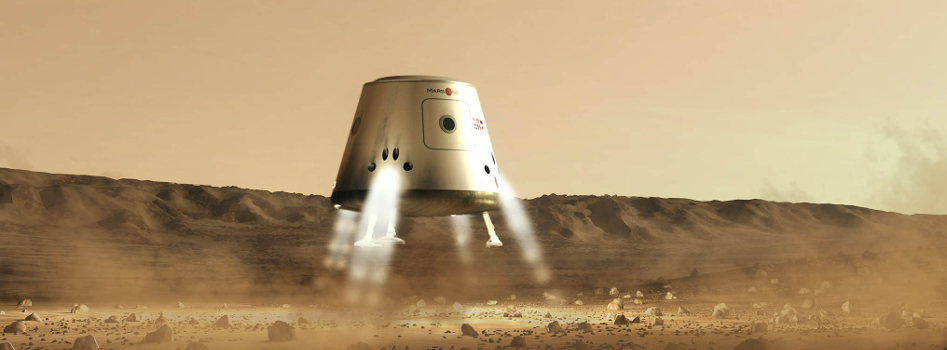 What a Mars One lander might look like. Image credit Bryan Versteeg.