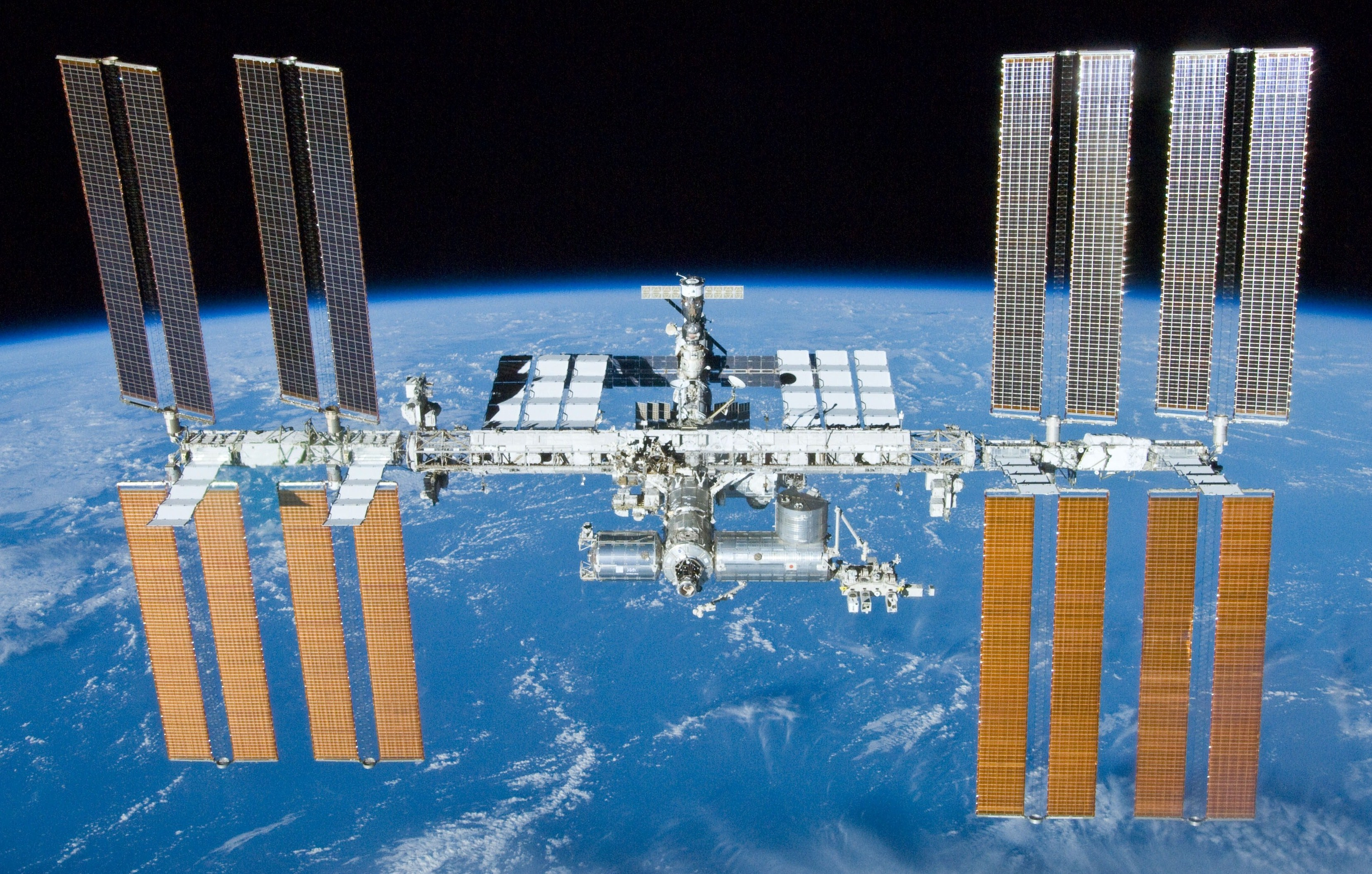 Would it be feasible to recycle this football-field-sized space station into a series of smaller stations? Image credit Wikipedia