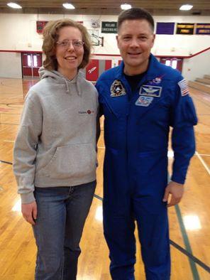 Me with astronaut Doug Wheelock