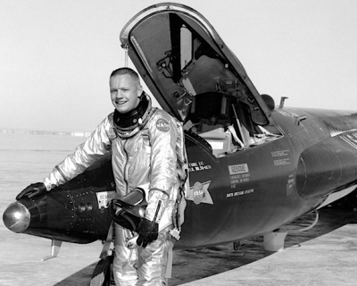 Neil Armstrong with the X-15