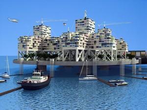 One proposed seastead model. Image credit Marine Insight
