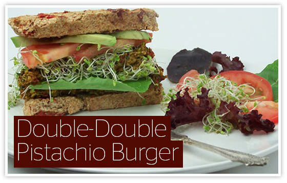 Sunfood Recipes calls this one the Double Double Pistachio Burger.