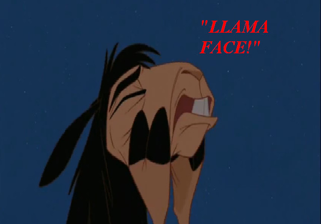 """""""Why, oh, why did I ever get involved in the world of business?"""" The Emperor in """"The Emperor's New Groove"""" really had a wide range of expressions for a llama."""