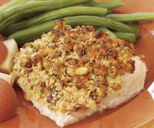 pistachio encrusted cod