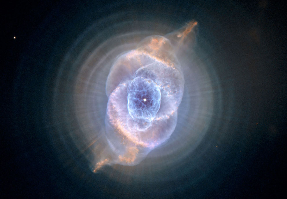 The Cat's Eye Nebula. Image credit The Atlantic